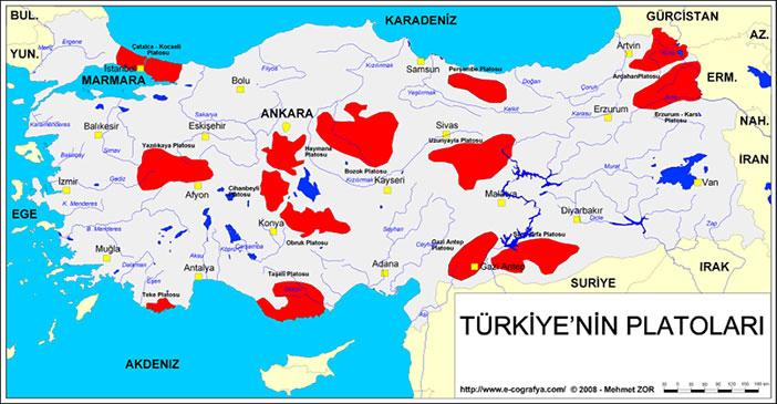 Turkiyenin-platolari